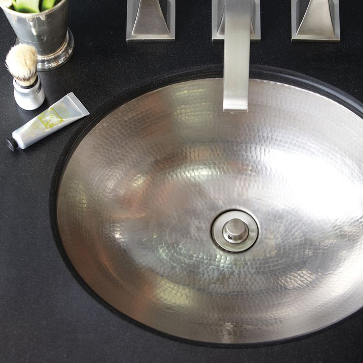 Classic Copper Bathroom Sink In Brushed Nickel By Native Trails