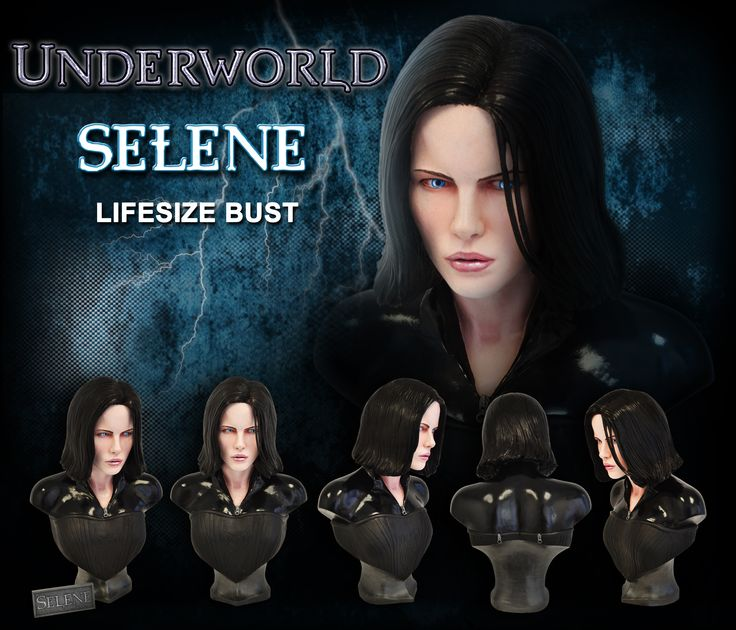 From the blockbuster Underworld movies, we are proud to present this magnificent life-size bust of Selene! This amazingly lifelike bust features a stunning likeness of Kate Beckinsale as the Death Dealer Vampire Selene, and is sure to be the centerpiece for any Underworld collection!For more information and pre-order details, please visit us at:  http://www.hollywood-collectibles.com/store/product.php?productid=16508&cat=0&page=