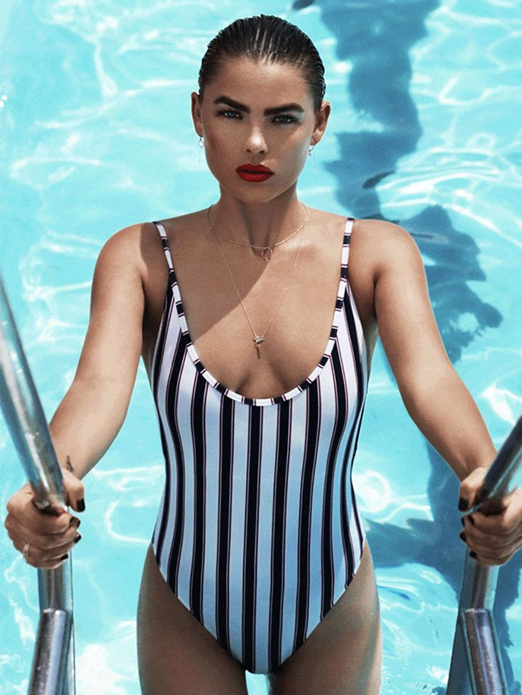 Model Bambi Northwood-Blyth wears the Lennon One-Piece by CAMILLA AND MARC Swim for Gritty Pretty.
