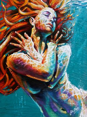 "Saatchi Online Artist Colin Staples Life Art; Painting, ""Floating in Colour"" #art"