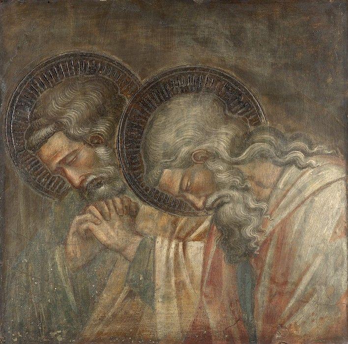 Спинелло Аретино - Двое скорбящих святых.  1387-91 гг.