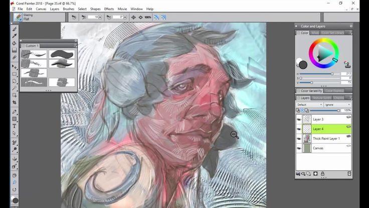 Corel Painter 2018 Digital Art Software Thick Paint for Illustration
