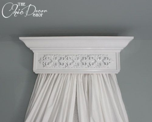 Bed Crown Canopy Crib Unpainted Wall Teester Bedroom And Nursery Decor Shabby Chic Redoing My Pinterest