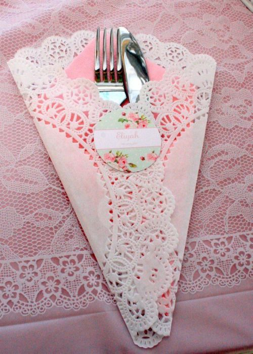 Tea Party Paper Dollie Napkin Holder  (Photo only)