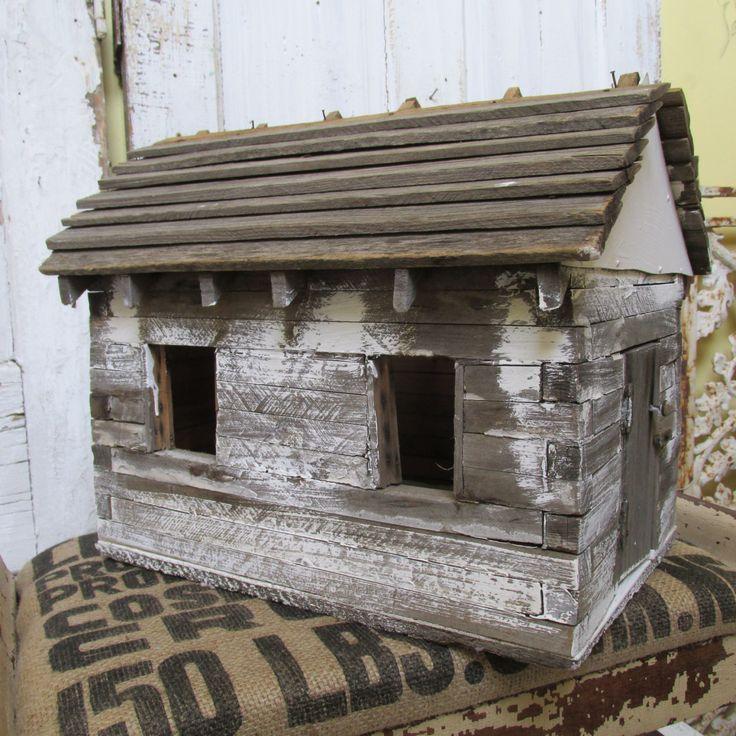 Français nordique nichoir résisté bois gris par AnitaSperoDesign