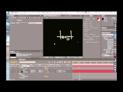 How to Animate Handwriting in After Effects - AE Tutorial - YouTube