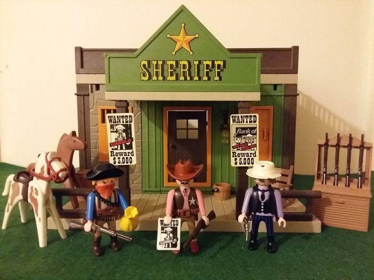 Playmobil vintage sheriff office with Eldorado Jo / western bundle