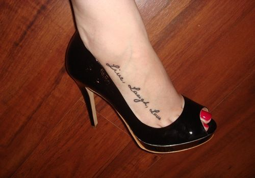 Mah Right Foot Tattoo