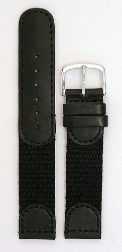 Men's Swiss Army Style Watchband - Color Black Size: 19mm Watch Band The Watchband Store. $12.95