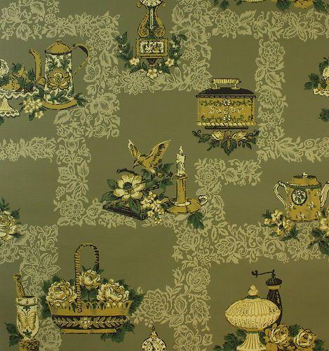 Die besten 25+ Green kitchen wallpaper Ideen auf Pinterest   Grüne ...