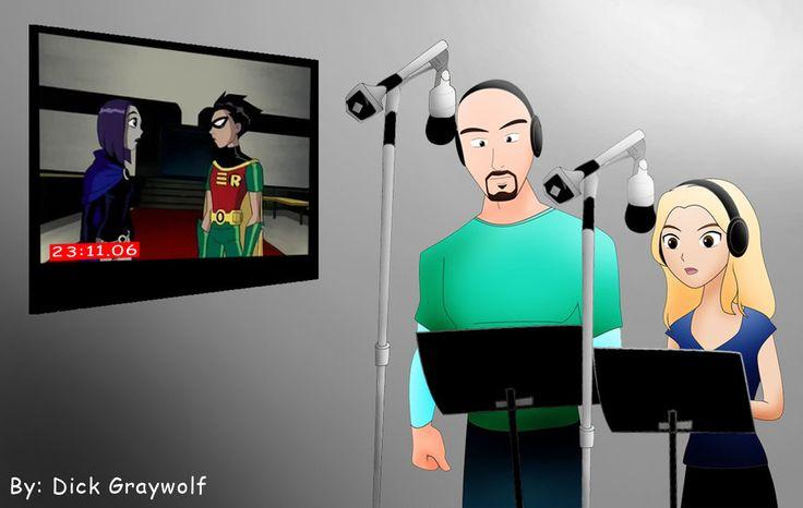 Behind A Titans Voice: Scott Menville, Tara Strong by DickGraywolf.deviantart.com on @DeviantArt