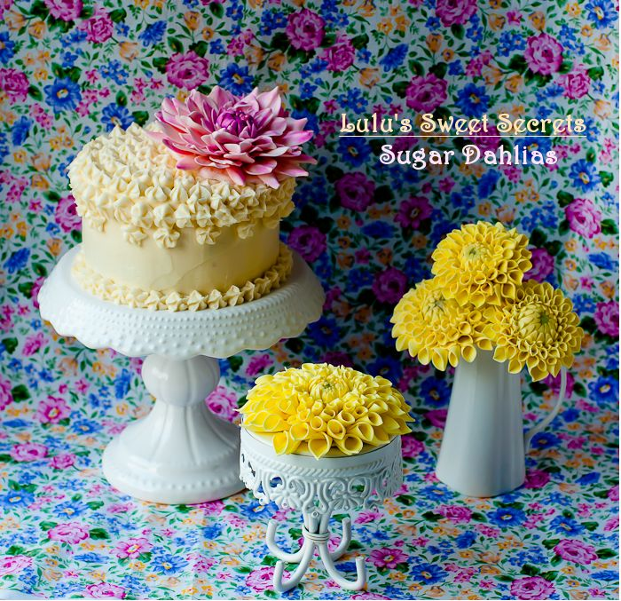 272 best cake decorating tutorials images on pinterest decorating lulus sweet secrets how to make sugar dahlias fandeluxe Image collections