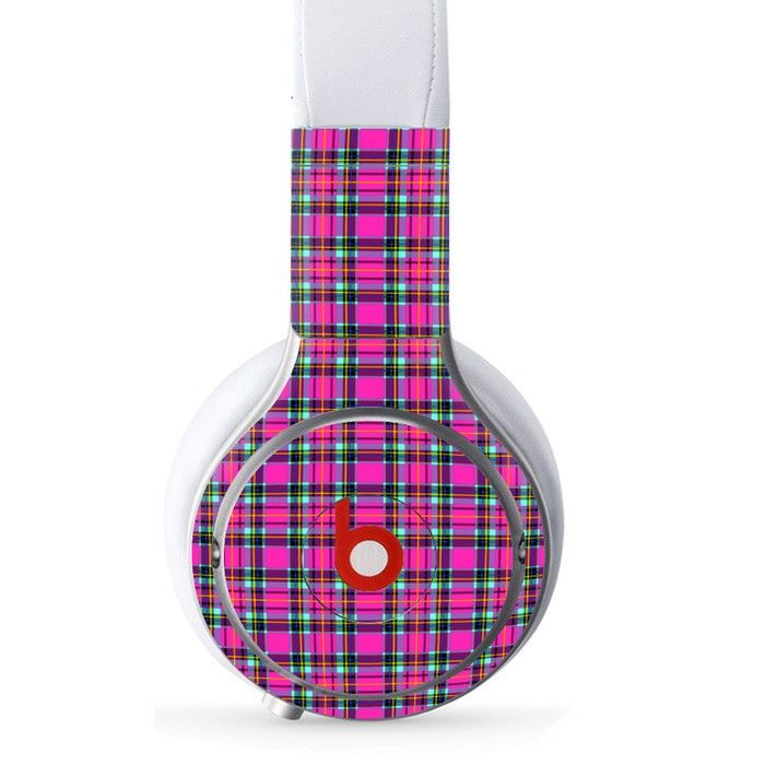 Colorful Clothe Shape decal for Monster Beats Pro wireless headphones