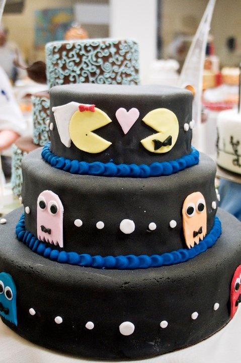 Whimsical PacMan Wedding Cake