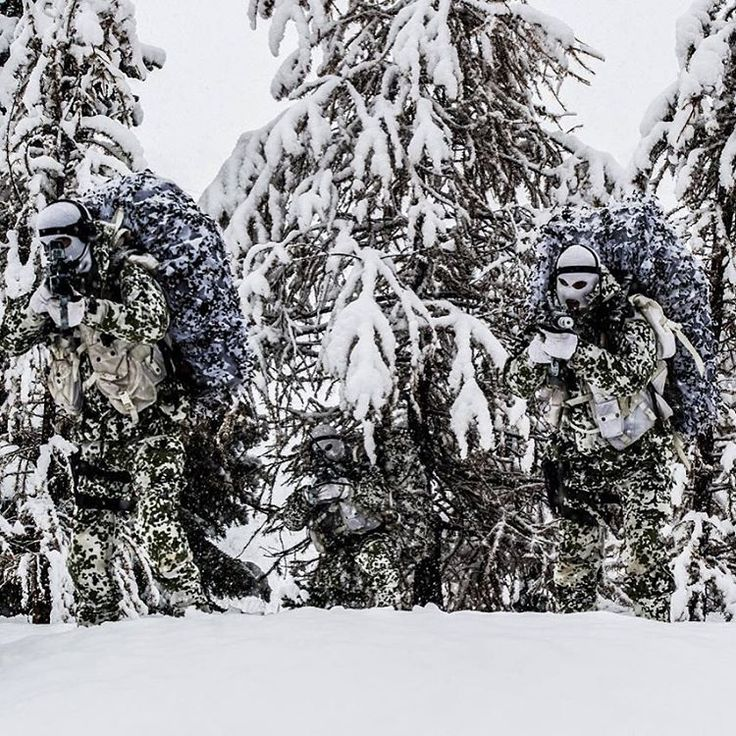 """""""""""Blending In"""" French special forces unit 13th Parachute Dragoon Regiment during arctic warfare training. @militarybadassery #BulletsBikesCars"""""""
