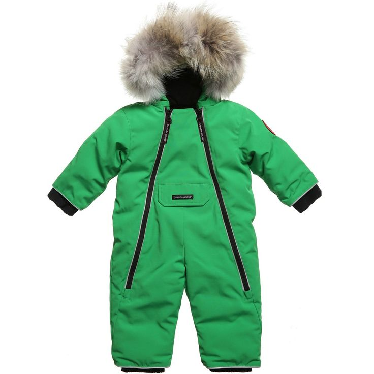 Canada Goose Green 'Lamb' Down Padded Baby Snowsuit at Childrensalon.com