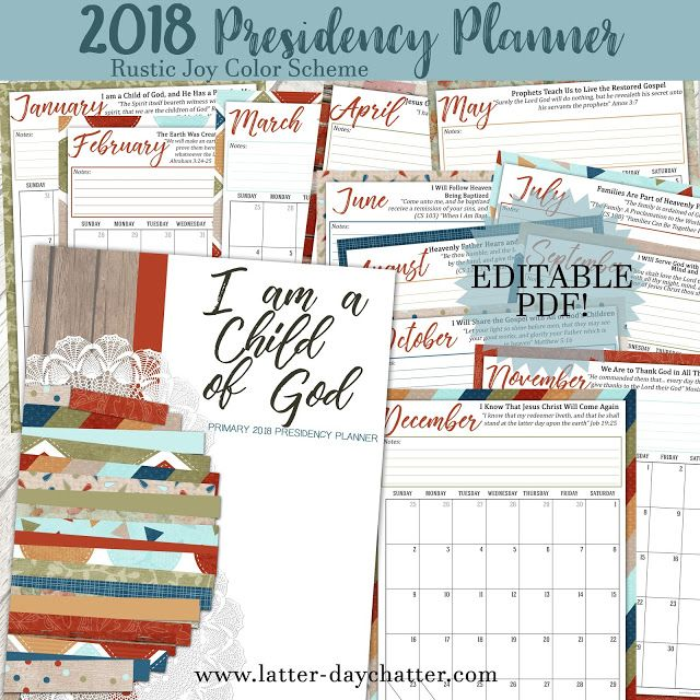 Latter-day Chatter: 2018 Primary Presidency Planners