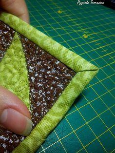 Как аккуратно оформить уголок изделия косой бейкой. - Ярмарка Мастеров - ручная работа, handmade