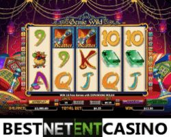 Play for free the Genie wild video slot by NYX