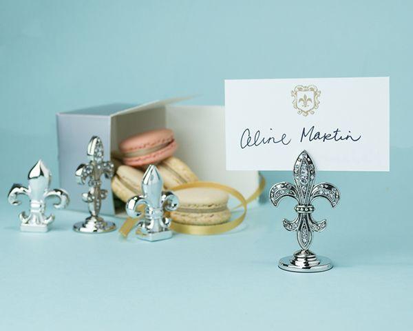 Fleur De Lis Place Card Holders (Set of 4)