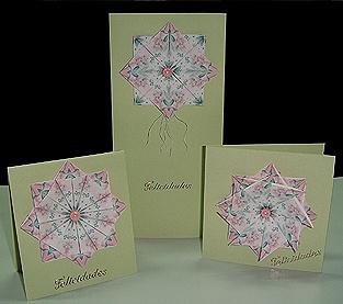 Conjunto de tarjetas con teabag