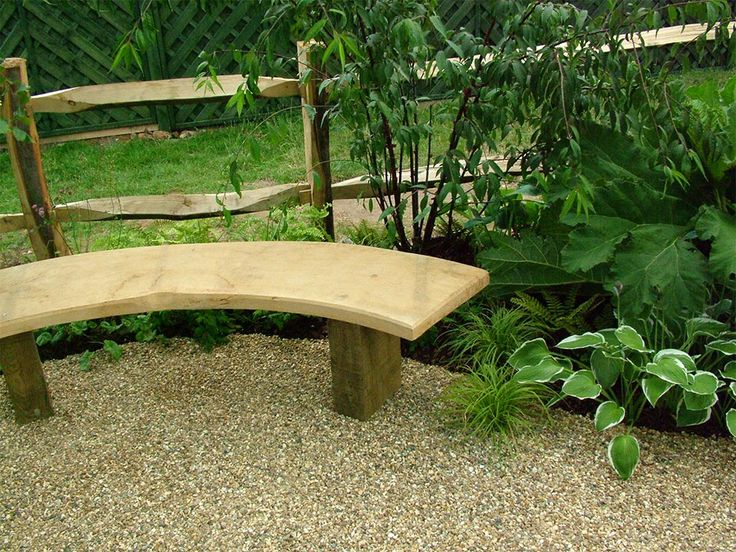 Curved Wooden Bench for Beautiful Garden. 16 best garden benches images on Pinterest   Garden benches