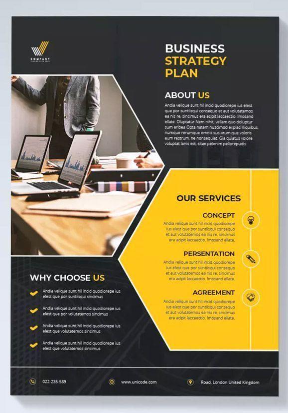 Modern Business Flyer Template Indesign Indd Modern Business Flyer Template Indesign I In 2020 Graphic Design Flyer Corporate Brochure Design Graphic Design Brochure