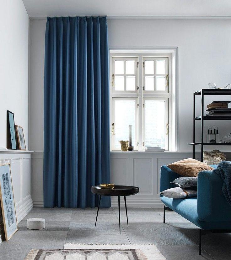 les rideaux pour la salle de s jour 21 id es magnifiques salons. Black Bedroom Furniture Sets. Home Design Ideas