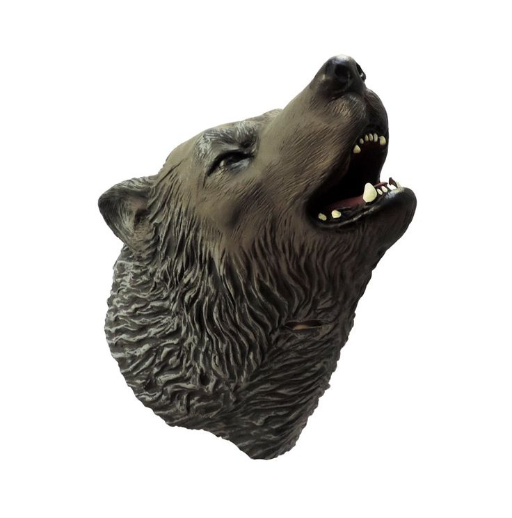 Adult Howling Grey Timber Wolf Latex Mask
