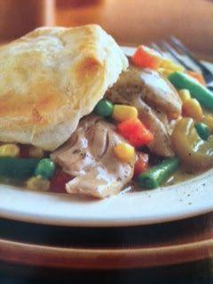 Easy crockpot recipes: Chicken and Biscuit Pot Pie Crockpot Recipe