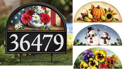 Four Seasons Address Marker Garden Stake