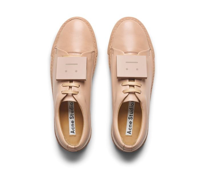 Acne Studios Adriana TurnUp Dusty Pink Nappa leather sneakers