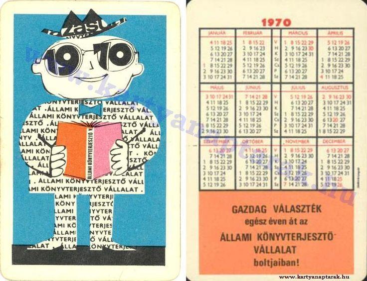 1970 - 1970_0442 - Régi magyar kártyanaptárak