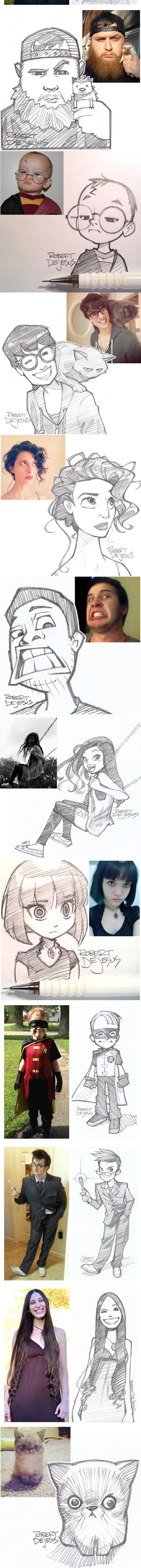 amazing character sketches.