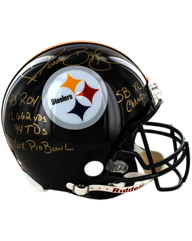 Jerome Bettis Signed Full Size Steelers Helmet w/ 6x Pro Bowl, SBXL Champ, 93 NFL ROY, 13,662 Yards, 94 TD's Inscriptions