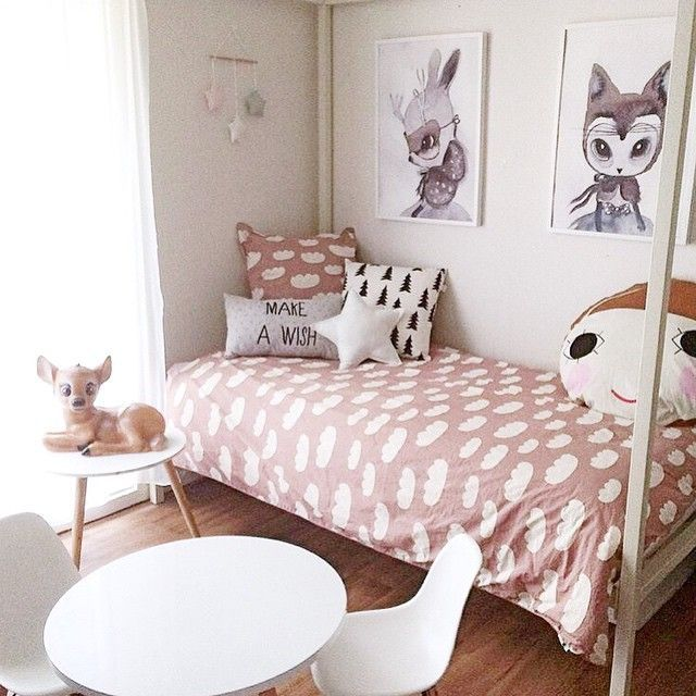 dusty pink for a girl's room.  #estella #kids #decor