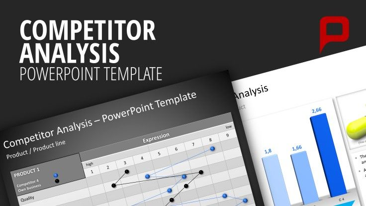 Competitor Analysis PowerPoint Templates The Competitor Analysis Template lets you create your competitor analysis directly in PowerPoint. It is increasingly important for businesses to have an exact overview of the market environment because extensive knowledge about the market and their competitors is today's a competitive advantage. #presentationload whttp://www.presentationload.com/competitor-analysis.html
