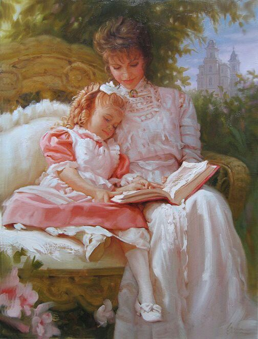 mother and child relationship paintings of roses