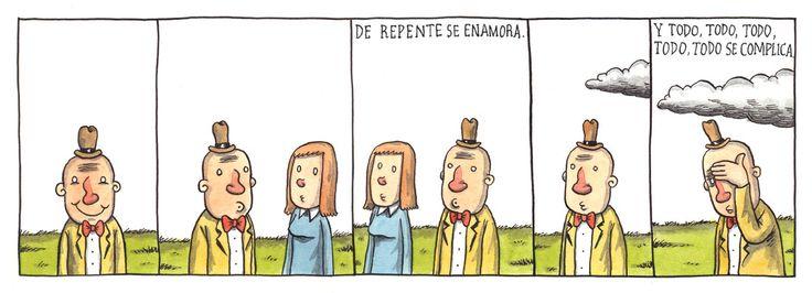 De repente se enamora... y todo, todo, todo se complica. (Liniers)