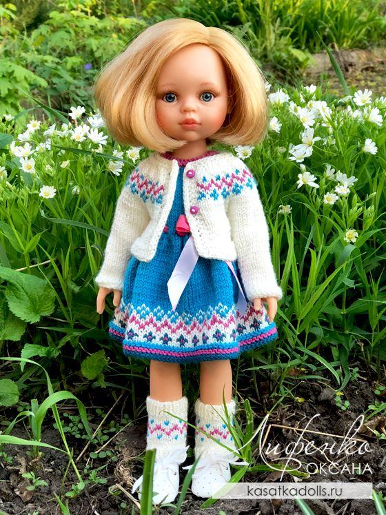 Кофта спицами для кукол Paola Reina | Оксана Лифенко