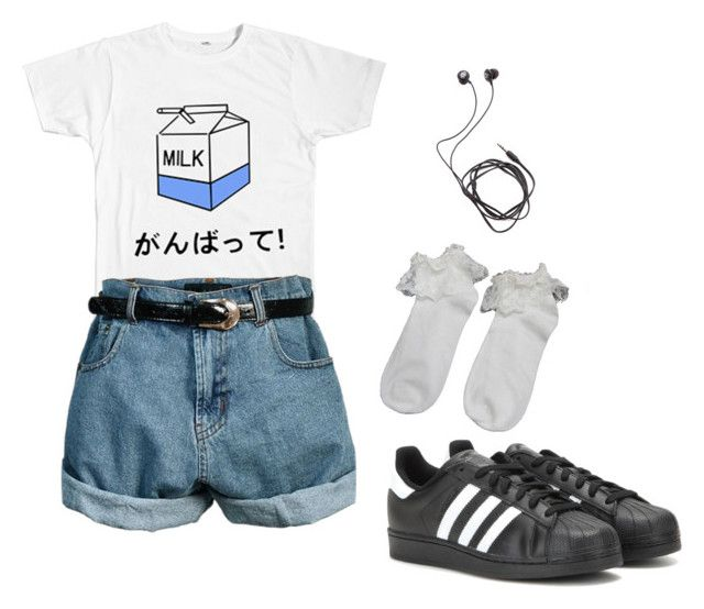 Aesthetic by blkgrid on Polyvore featuring polyvore, fashion, style, adidas, Diane Von Furstenberg, Retrò and clothing