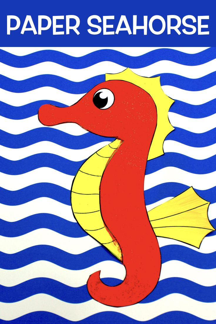 Paper Seahorse Picture Make Film Play Craft Activities For Kids Seahorse Crafts For Kids [ 1102 x 735 Pixel ]