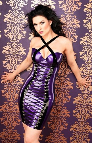 Inner Sanctum Rubber/Latex Fashion - Laced Lucy Dress