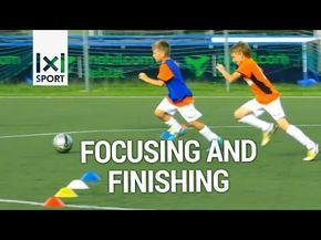 Football/ Soccer Drill for Kids - Focusing & Finishing - YouTube