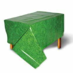 Party Time Celebrations  - Grass Print Plastic Tablecover, $10.95 (http://www.partytimecelebrations.com.au/grass-print-plastic-tablecover/)