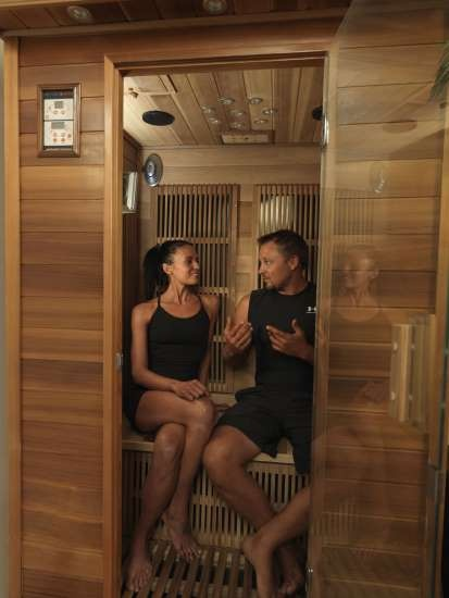Our two person sauna.