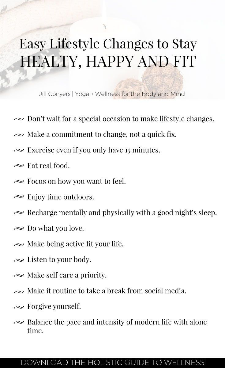 how to develop a healthy lifestyle