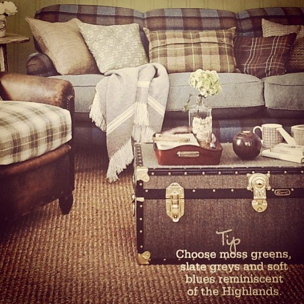 TOP TRUNKS  As seen in Country Homes & Interiors Magazine our stunning Harris Tweed Trunk, available in seven sizes... Storage never looked so stylish!