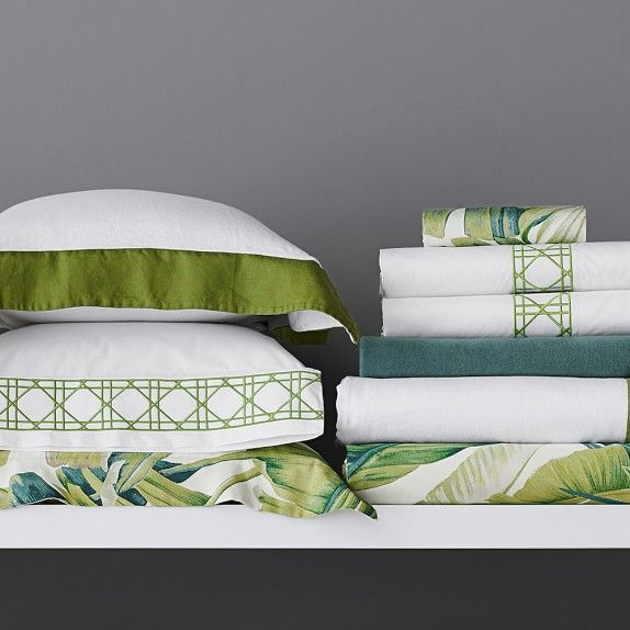 Tropical Leaf Bedding | Williams-Sonoma