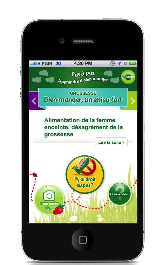 MyBlédina Application mobile - Conseil Pas à Pas